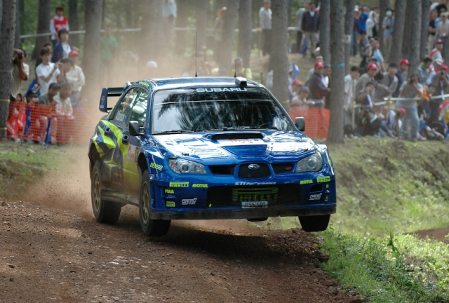 One of the most popular cars used for rally racing the Subaru Impreza.