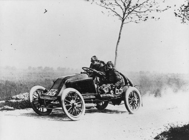 Early days of rally racing.